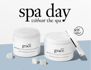 NIB Philosophy Pure Grace Scrub & Creme Duo Perfect Skin Smoothing Set $55!!!
