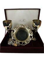Silver Treasures by Godinger Vintage Wine Glass Ice Tray Set wine Cork