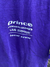 Local Crew T Shirt. Prince Musicology 2004 tour Purple Rare