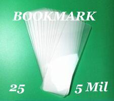 25 Bookmark Small 5 Mil Laminating Pouches Laminator Sheets 2-1/8 x 6