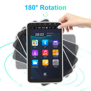 """180° Rotatable 10"""" 2.5D Android 10.0 Single 1 Din Car GPS WiFi MP5 Player 1G+16G"""