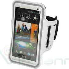 Armband fascia braccio Sport per HTC One M7 M8 M8s custodia BIANCA touch screen