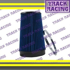 """UNIVERSAL 6 INCHES 6"""" 152mm DIAMETER TRUCK COLD AIR INTAKE DRY FILTER 1989 Blue"""