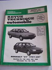 REVUE TECHNIQUE AUTOMOBILE . RENAULT 21 BERLINE , NEVADA . 106 PAGES . BON ETAT