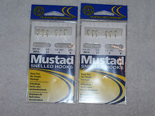 18 Mustad Snelled Salmon Egg Hooks - Trout - Size 12 - 4lb Test - 6/pack
