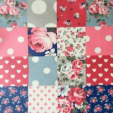 """Cath Kidston PVC Coated Cotton Oilcloth Square 17""""x17"""" Patchwork OF066"""