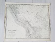 WALKER 1880 old Antique Map South America Rio Grande Peru San Paulo atlas Brazil