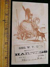 1870s-80s Old Mother Hubbard, Harness Maker Geo. W. Truex, Red Bank, NJ Card F10