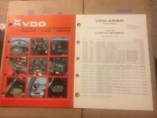 Vintage 1978 VDO Catalog  w/ Price List