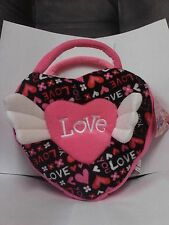 Sugar Loaf Pink Love You Heart XO Valentine's Day Plush Purse 2013 NWT!