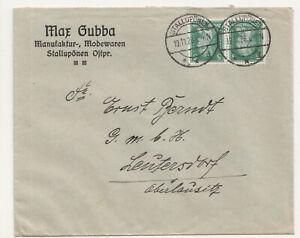 Werbe Brief Max Gubba Manufaktur Modewaren Stallupönen Ostpreußen 1926 (B7