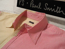 """PAUL SMITH Mens Shirt 🌍 Size S (CHEST 38"""") 🌎 RRP £95+ 📮 PANELS OF STRIPES"""