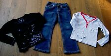 PUMPKIN PATCH GIRLS JEANS AND 2 X TOPS PUMPKIN PATCH & COUNTRY ROAD TOP SZ 5