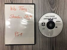 *** WU TANG Shaolin Style *** Playstation 1 PS1 PSX *** auch PS2 & 3 *** NUR CD