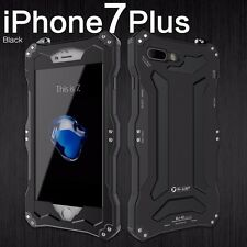 R-JUST Shock/waterproof Armor metal aluminum Cover Case For iphone 5 6 7 8 Plus