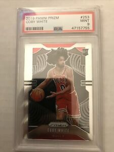 2019-20 Panini Prizm #253 Coby White RC Rookie Card PSA 9 Mint Chicago BULLS