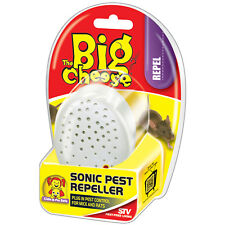 THE BIG CHEESE: SONIC PEST REPELLER- CHILD & PET SAFE, POISON FREE; RATS & MICE