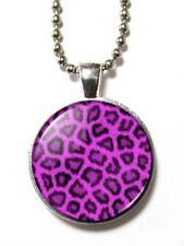 Magneclix magnetic pendant-Leopard Print - Purple - Emo Goth