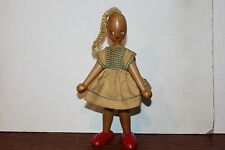 VINTAGE PAINTED FACE WOODEN DOLL FIGURE