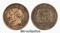 2 Centimes 1854 W (Lille). Napoléon III°. France. Bronze
