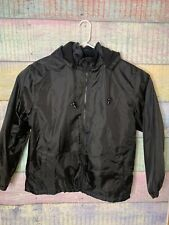 TOTES Rain Coat Men's Size L Black long sleeve jacket