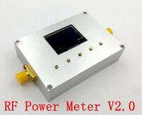 New Aluminum OLED 10GHz RF Power Meter 100KHz-10GHz -60~0dBm Digital Radio