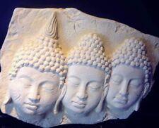Stampo IN LATTICE PER RENDERE tripla di Buddha Testa la placca