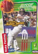 Ricky Ponting Australia National Cricket Trading Cards