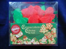 Wilton Christmas Collection 10 Cookie Cutters Santa Tree Star Snowman Drum