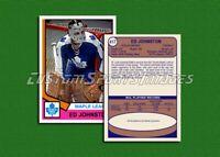 Ed Johnston - Toronto Maple Leafs - Custom Hockey Card  - 1973-74