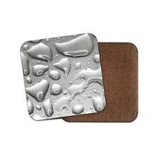 Liquid Metal Coaster - Metallic Mercury Silver Quicksilver Element Gift #12608