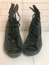 Women's B.Makowsky Strappy Wedge Heel Sandle Sz.US~8 Olive Leather/Suede