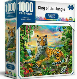 Tiger King of the Jungle Crown Imagine Series 68.5cm Jigsaw Puzzle Toy Kids