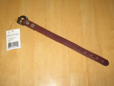 Polo Ralph Lauren Men's Distressed Brown Leather Bracelet with Tags New!