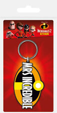 DISNEY PIXAR INCREDIBLES MRS INCREDIBLE RUBBER KEYRING CARDED NEW OFFICIAL MERCH