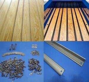 Pine Bed Wood Kit Chevy 1967 - 1972 Chevrolet C10 Short Bed Steel Strip Stepside