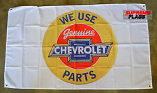 Chevrolet Genuine Parts Flag Banner 3x5 ft GM Car Garage White