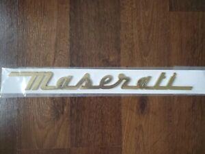 Maserati Gold Name Badge for Trunk