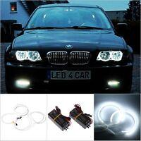 4x White CCFL Angel Eye Eyes Halo Rings Light Lamp Kit for BMW E36 3 E46 DC 12V
