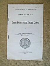 1901 Usda Farmer'S Bulletin No. 139 Emmer:Grain For Semiarid Regions Antique Vtg