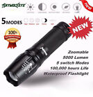 30000LM 12x CREE XM-L T6 Linterna LED 4x 18650 Caza Reflector linterna