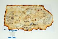 ACTOR JEFF COHEN SIGNED 'THE GOONIES' MOVIE TREASURE MAP BECKETT COA BAS CHUNK