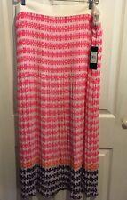 Adrienne Vittadini size Xl pink orange purple summer spring Nwt skirt $110