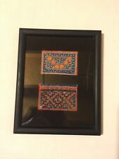 Framed Textile Quilted Fiber Art Wall Hanging