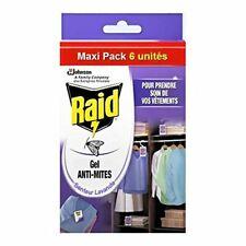 Raid Gel Anti-Mites, Senteur   lavande de Cèdre, Maxi Pack 6 unites