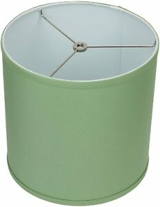 "10.5"" W x 10.5"" H Celadon/Nickel Hardware Drum Lamp Shade by FennelShades.com"