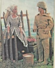 """11.5""""BARBIE KEN COLONIAL FRONTIER/EARLY WESTERN/WEST DOLL CLOTHES/DRESS PATTERN"""