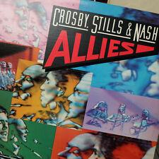 1983 Crosby Stills & Nash – Allies Record Vinyl LP – 80075 1 – EX/VG+