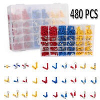 480Pcs Multi-Types Insulated Assorted Electrical Wire Connectors Crimp Terminals