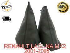 RENAULT LAGUNA MK2 DCI 2001-2005 GENUINE LEATHER GEAR STICK GAITER COVER SET